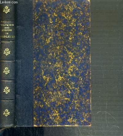 HISTOIRE DE CHARLES XII ROI DE SUEDE  - NOUVELLE EDITION
