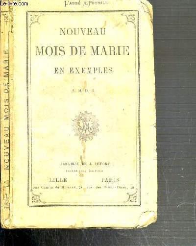 NOUVEAU MOIS DE MARIE EN EXEMPLES - 3ème EDITION.