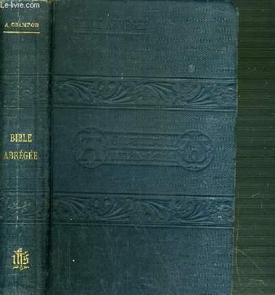 BIBLE ABREGEE - N°725 - A L'USAGE DES GENS DU MONDE ET DES MAISONS D'EDUCATION SECONDAIRE