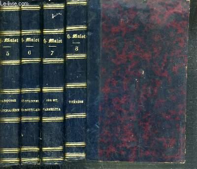 L'AUBERGE DU MONDE EN 4 VOLUMES LA MARQUISE DE LUCILLIERE + LE COLONEL CHAMBERLAIN + IDA ET CARMELITA + THERESE / OUVRAGES DE HECTOR MALOT - 4 TOME. (5 + 6 + 7 + 8).