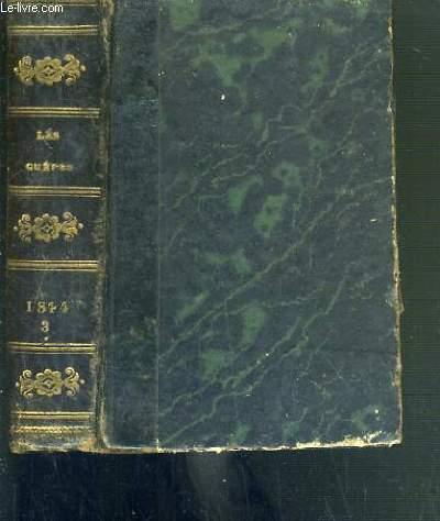 LES GUEPES - AOUT + SEPTEMBRE + OCTOBRE - 1844.