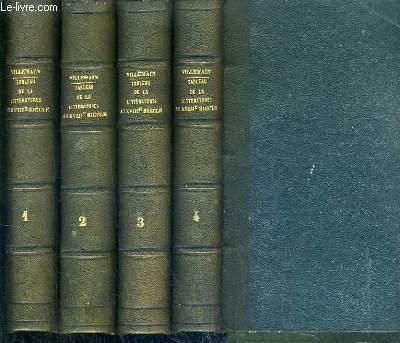 COURS DE LITTERATURE FRANCAISE - TABLEAU DE LA LITTERATURE AU XVIIIe SIECLE - NOUVELLE EDITION - 4 TOMES - 1 + 2 + 3 + 4.