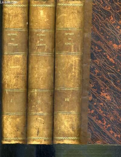 OEUVRES DE FENELON - ARCHEVEQUE DE CAMBRAI PRECEDEES D'ETUDES SUR SA VIE, PAR AIME-MARTIN - 3 TOMES - I + II + III.