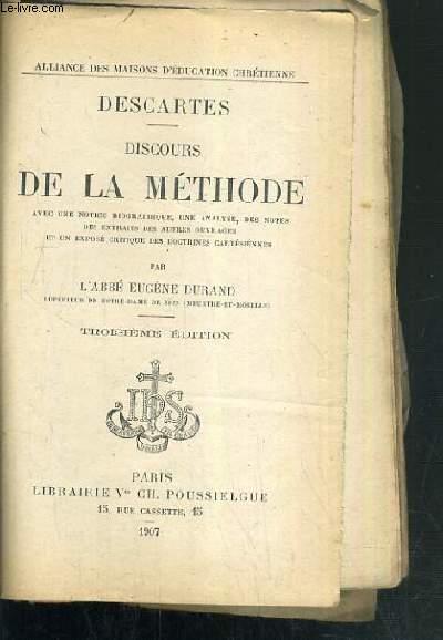DISCOURS DE LA METHODE - 3ème EDITION