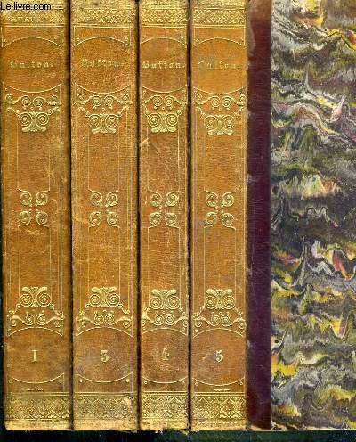 OEUVRES COMPLETES DE BUFFON SUIVIES DE LA CLASSIFICATION COMPAREE DE CUVIER, LESSON, ETC, ETC -  NOUVELLE EDITION REVUE PAR M. RICHARD - 4 TOMES - 1 + 3 + 4 + 5 - MANQUE LE TOME 2 - 2 photos disponibles.