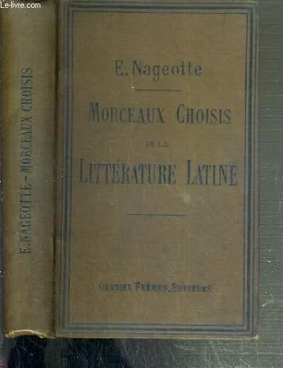 RECUEIL DE MORCEAUX CHOISIS DE LA LITTERATURE LATINE - TRADUCTION FRANCAISE / ENSEIGNEMENT SECONDAIRE DES JEUNES FILLES - ENSEIGNEMENT SECONDAIRE SPECIAL DES GARCONS.