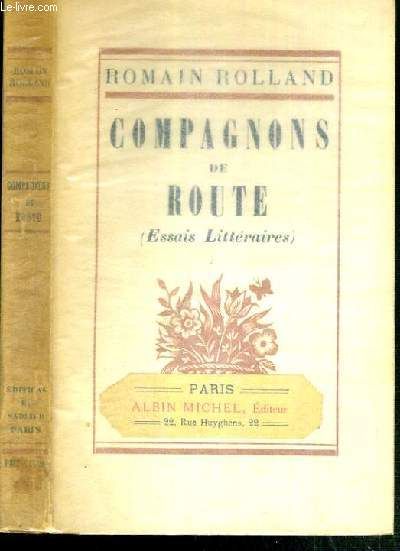 COMPAGNONS DE ROUTE (ESSAIS LITTERAIRES)