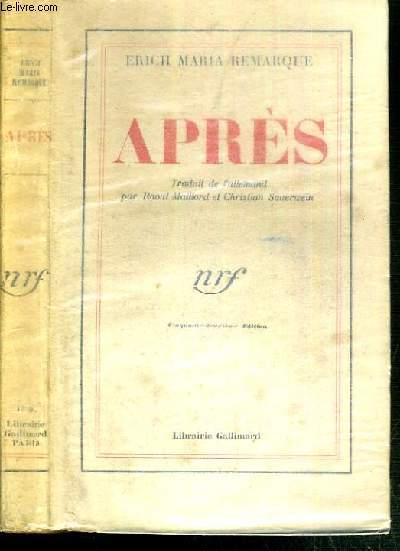 APRES (DER WEG ZURUCH)