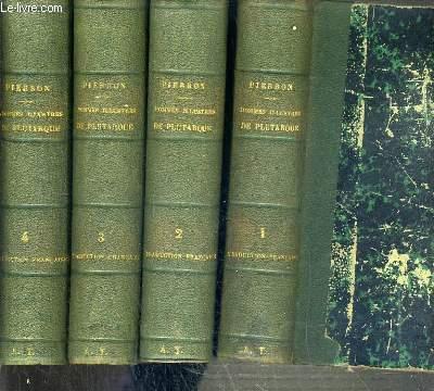 VIES DES HOMMES ILLUSTRES DE PLUTARQUE - 4 TOMES - 1 + 2 + 3 + 4  / 3ème EDITION - 4 photos disponibles.