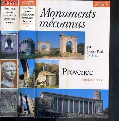 MONUMENTS MECONNUS - PROVENCE - 2 OUVRAGES - 2ème SERIE + TOME 3.