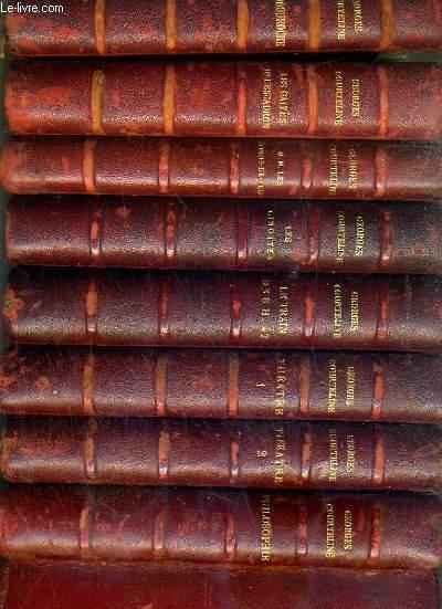 OEUVRES COMPLETES ILLUSTREES DE GEORGES COURTELINE - 8 TOMES - DE I à VIII.