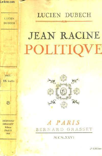 JEAN RACINE - POLITIQUE