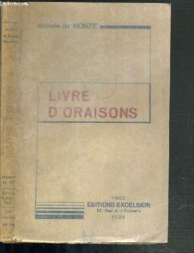 LIVRE D'ORAISONS