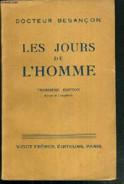LES JOURS DE L'HOMME - 3ème EDITION