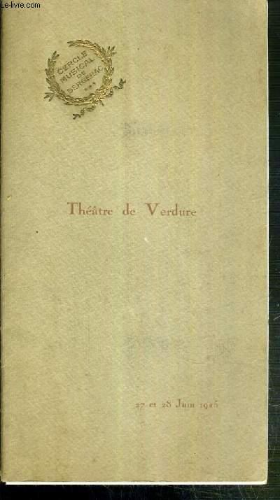 PROGRAMME DU THEATRE DE VERDURE - 27 ET 28 JUIN 1925 - BRITANNICUS - TRAGEDIE EN 5 ACTES EN VERS DE JEAN RACINE
