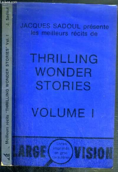 THRILLING WONDER STORIES  - VOLUME I.