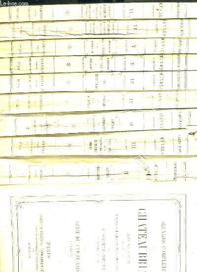 OEUVRES COMPLETES DE CHATEAUBRIAND - 19 VOLUMES - NOUVELLE EDITION PRECEDEE D'UNE ETUDE LITTERAIRE SUR CHATEAUBRIAND PAR M. SAINTE-BEUVE - tome II (2 parties) + tome III 2ème partie + tome IV + V + VI + VII + IX + X + XI + XII (2 p).