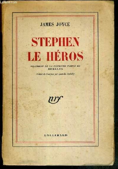 STEPHEN LE HEROS - FRAGMENT DE LA PREMIERE PARTIE DE DEDALUS