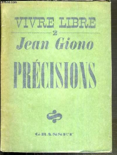 PRECISIONS / COLLECTION VIVRE LIBRE II
