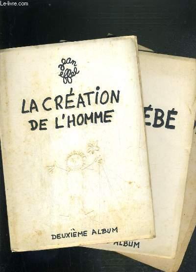 LA CREATION DE L'HOMME + ADAM BEBE + L'EDUCATION D'ADAM - (3 ALBUMS)