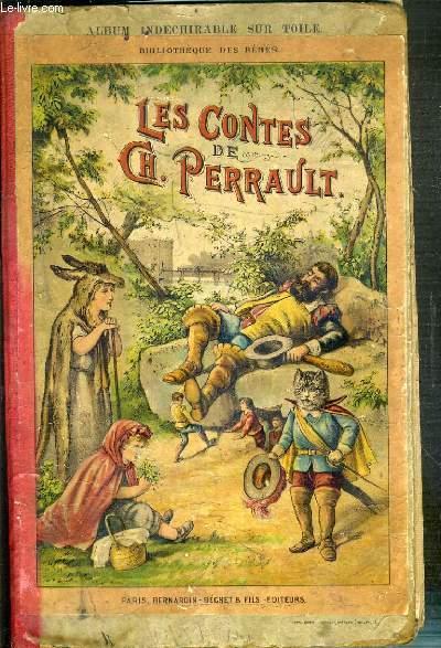 LES CONTES DE CH. PERRAULT - BIBLIOTHEQUE DES BEBES - ALBUM INDECHIRABLE SUR TOILE