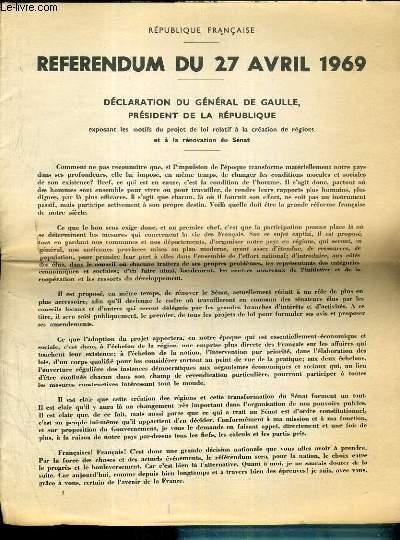 Achetez Cet ArticleReferendum Du 27 Avril 1969
