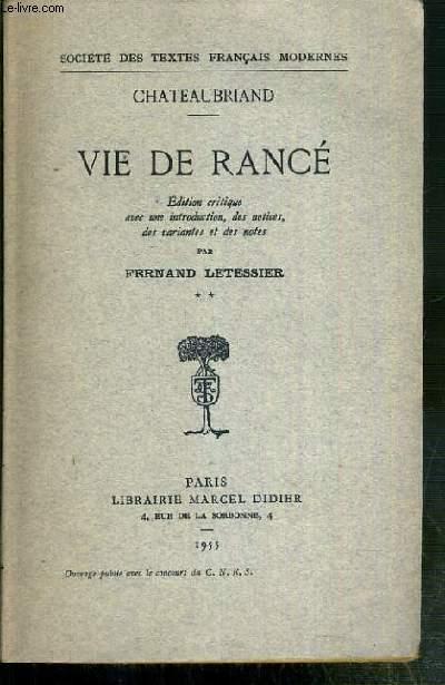 VIE DE RANCE - TOME 2
