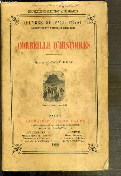 CORBEILLE D'HISTOIRES / OEUVRES NOUVELLES DE PAUL FEVAL