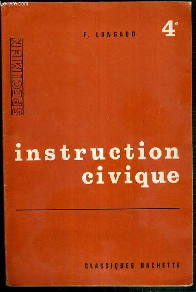 INSTRUCTION CIVIQUE - 4eme - SPECIMEN