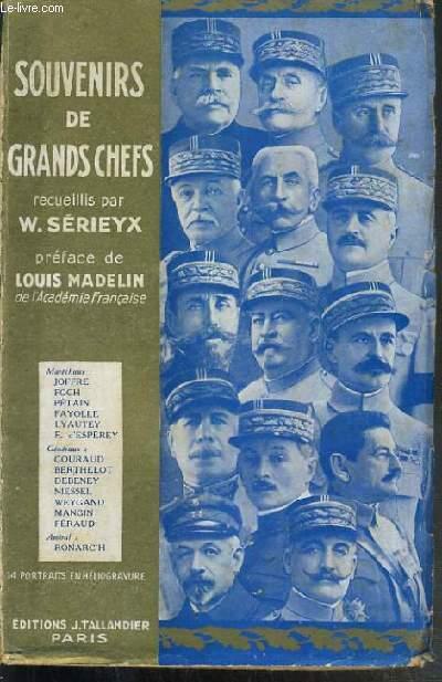 SOUVENIRS DE GRANDS CHEFS RECUEILLIS PAR W. SERIEYX