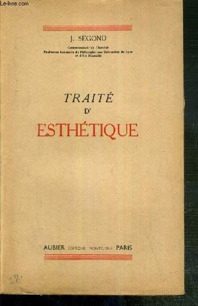 TRAITE D'ESTHETIQUE