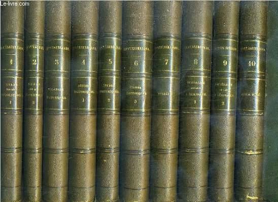 OEUVRES COMPLETES DE M. LE VICOMTE DE CHATEAUBRIAND - 22 TOMES - 1+2+3+4+5+6+7+8+9+10+11+12+13+14+15+16+17+18+19+20+21+22 - COMPLET - OEUVRES COMPLETES EDITEES AU VIVANT DE CHATEAUBRIAND - 3 photos disponibles
