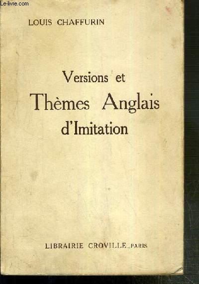 VERSIONS ET THEMES ANGLAIS D'IMITATION  - 13eme EDITION
