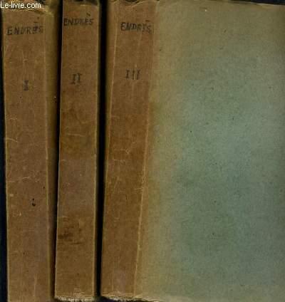 MANUEL DU CONDUCTEUR DES PONTS ET CHAUSSEES - 3 TOMES - 1 + 2 + 3 / TOME 1. partie theorique - TOME 2. dessin graphique et lavis, levers des plans, nivellement, cubature des terrasses... - TOME 3. applications - VENDU EN ETAT - 6eme EDITION.