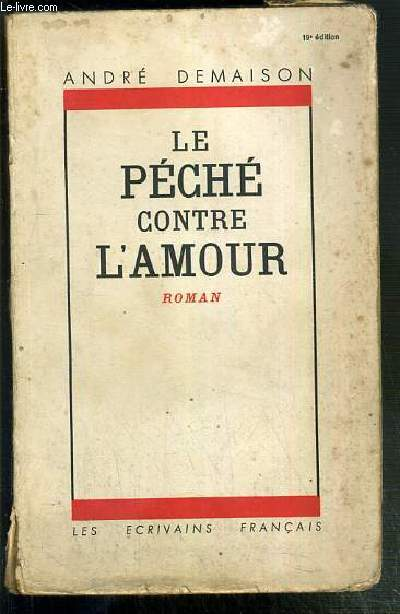 LE PECHE CONTRE L'AMOUR - LES CIVILISES.