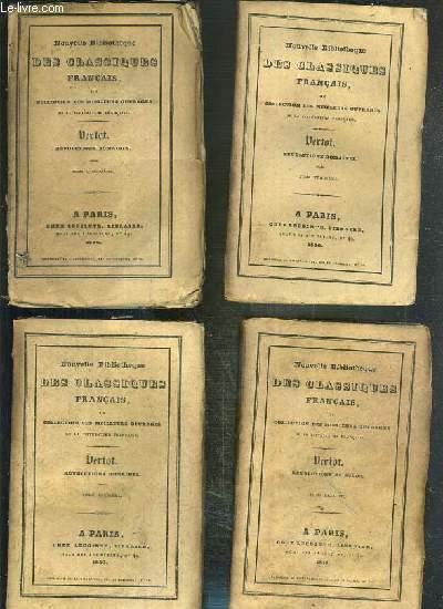 HISTOIRE DES REVOLUTIONS DE SUEDE OU L'ON VOIT LES CHANGEMENTS QUI SONT ARRIVES DANS CE ROYAUME AU SUJET DE LA RELIGION ET DU GOUVERNEMENT - 4 TOMES - 1 + 2 + 3 + 4 / NOUVELLE BIBLIOTHEQUE DES CLASSIQUES FRANCAIS