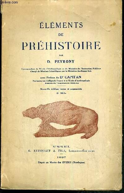 ELEMENTS DE PREHISTOIRE