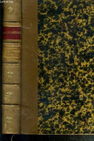 LETTRE A D'ALEMBERT SUR LES SPECTACLES - TEXTE REVU D'APRES LES ANCIENNES EDITIONS AVEC UNE INTRODUCTION ET DES NOTES PAR M. LEON FONTAINE.