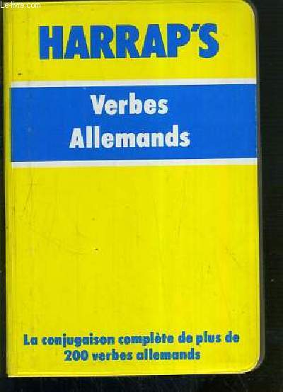 HARRAP'S - VERBES ALLEMANDS