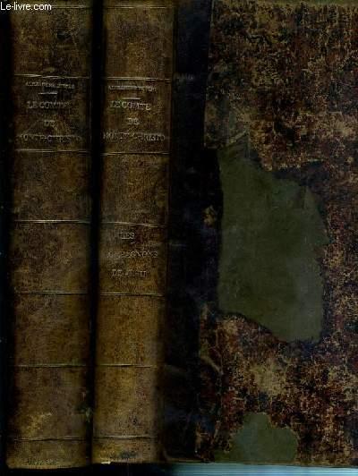 LE COMTE DE MONTE-CHRISTO - 2 TOMES - T.1 (1ere + 2eme + 3eme + 4eme + 5eme PARTIES) + T.2. (6eme PARTIE) + LES COMPAGNONS DE JEHU (1ere + 2eme PARTIES) + LE GENTILHOMME DE LA MONTAGNE.