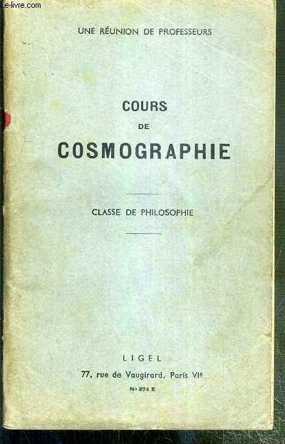COURS DE COSMOGRAPHIE - CLASSE DE PHILOSOPHIE - N° 274 E
