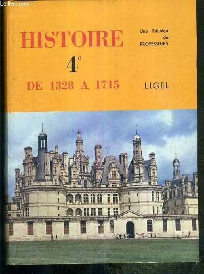 HISTOIRE - 4e - DE 1328 A 1715