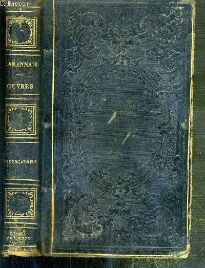 OEUVRES POSTHUMES DE F. LAMENNAIS - PUBLIEES SELON LE VOEU DE L'AUTEUR PAR E. D. FORGUES - LA DIVINE COMEDIE DE DANTE ALIGHIERI PRECEDEE D'UNE INTRODUCTION - LE PURGATOIRE - TEXTE EN ITALIEN ET TRADUCTION EN FRANCAIS EN REGARD.