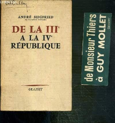 DE LA IIIe A LA IVe REPUBLIQUE