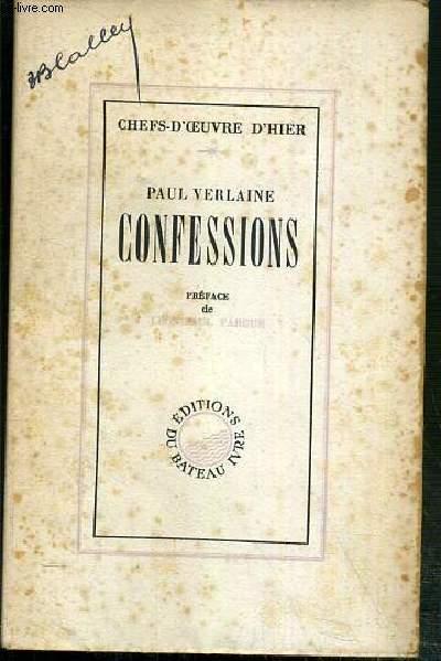 CONFESSIONS - NOTES AUTOBIOGRAPHIQUES / COLLECTION CHEFS-D'OEUVRE D'HIER