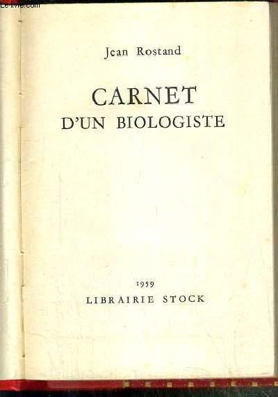 CARNET D'UN BIOLOGISTE