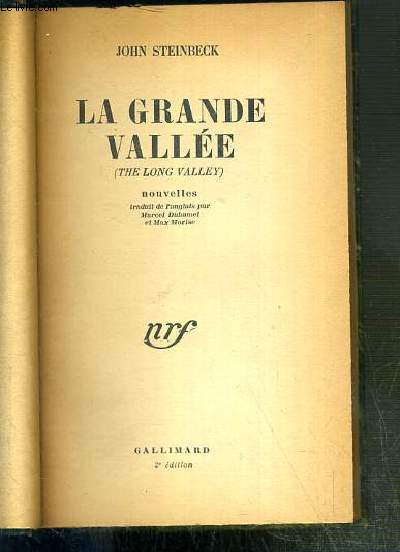 LA GRANDE VALLEE (THE LONG VALLEY) - NOUVELLES
