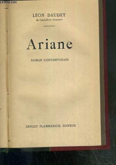 ARIANE - ROMAN CONTEMPORAIN