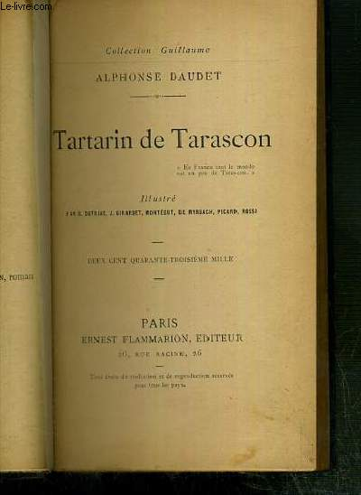 TARTARIN DE TARASCON / COLLECTION GUILLAUME.