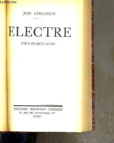 ELECTRE - PIECE EN DEUX ACTES